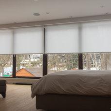 Modern Bedroom by RoseSun Motorized Window Treatments