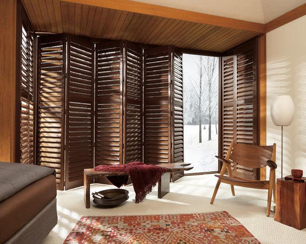 Contemporary Bedroom by Window Treats Inc.