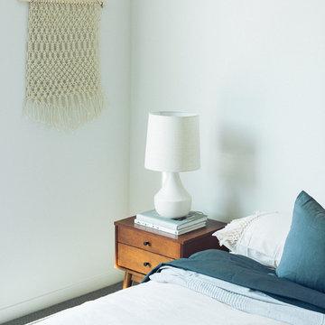 Bedroom with Midcentury Modern Nightstand