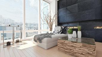 Bedroom with Ultrastone Wall