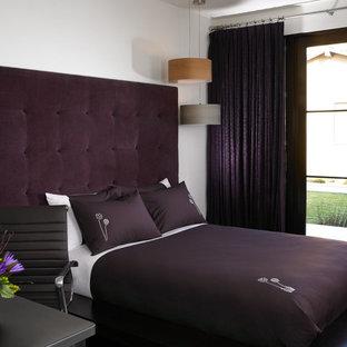 Idee per una camera da letto moderna con pareti bianche
