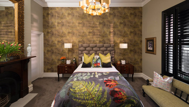 Eclectic Bedroom by Balisa Design