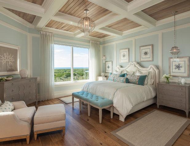 Coastal Bedroom by BCBE Custom Homes