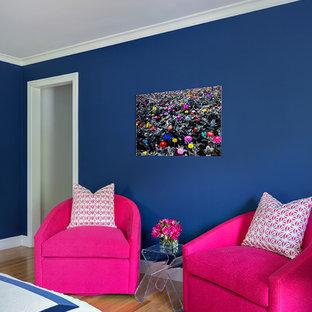 ニューヨークのコンテンポラリースタイルのおしゃれな寝室