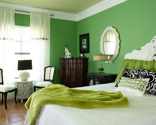 Bedroom Designs Green And White