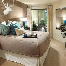 Eclectic Bedroom by greige/Fluegge Interior Design, Inc.