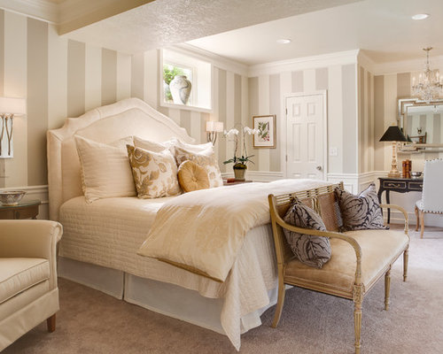 Beige cream bedroom design ideas remodels photos houzz for Cream and beige bedroom ideas