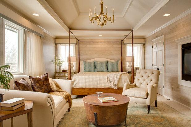 Rustic Bedroom by McCroskey Interiors