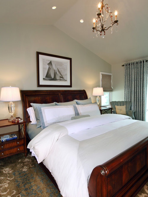 Inspiration for a large timeless master carpeted bedroom remodel in Los  Angeles with gray walls Ethan Allen Bedroom Furniture Houzz