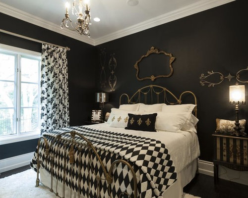 victorian bedroom design ideas remodels photos with black walls houzz. Black Bedroom Furniture Sets. Home Design Ideas