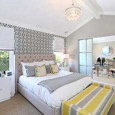 Transitional Bedroom by V.I.Photography & Design
