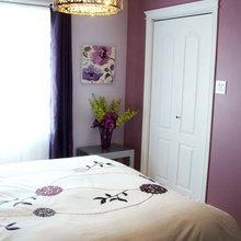 Purple and white bedroom - Chambre mauve et blanche ...