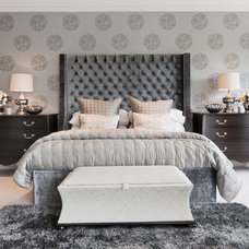 modern bedroom by Alexander James Interiors
