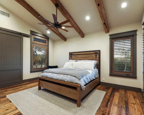 Camera da letto in campagna con pareti gialle - Foto e Idee per ...