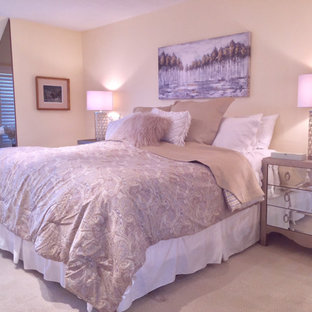 Свежая идея для дизайна: спальня в стиле модернизм - отличное фото интерьера