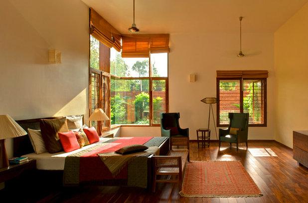 Tropical Bedroom by Khosla Associates
