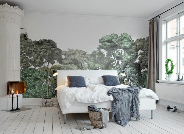 Transitional Bedroom by Rebel Walls