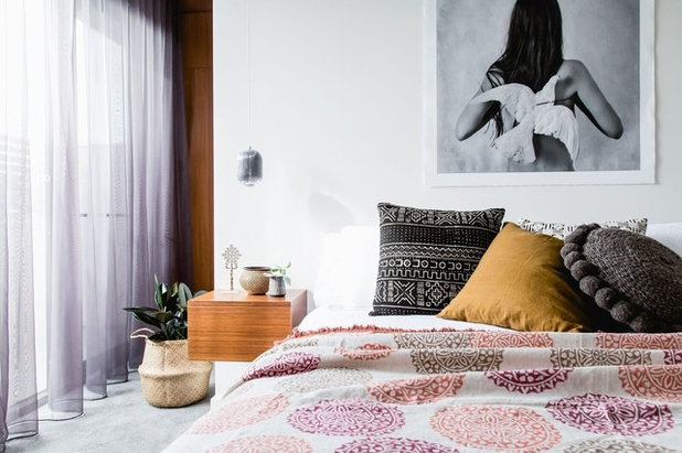 Transitional Bedroom by Bask Interiors