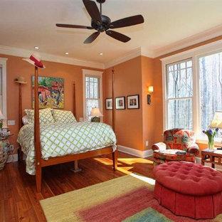 Camera da letto con pareti arancioni Raleigh - Design, Foto ...