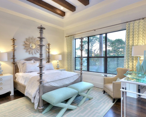 Example of a transitional dark wood floor bedroom design in Austin with  white walls. Antique Bedroom Furniture   Houzz