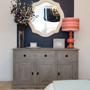 Inspiration for a modern bedroom remodel in Charlotte
