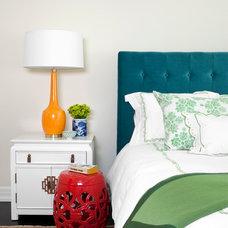 Transitional Bedroom by Burnham Design