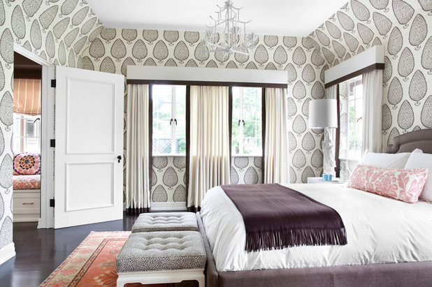 Cute Transitional Bedroom by Burnham Design