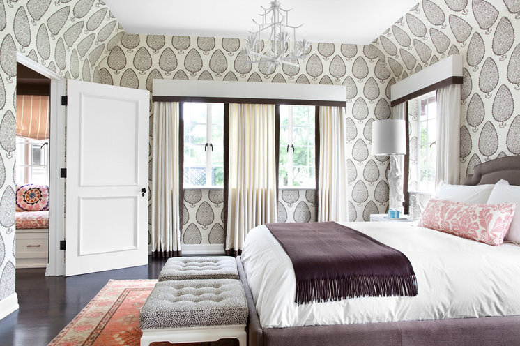 Transitional Bedroom by Burnham Design
