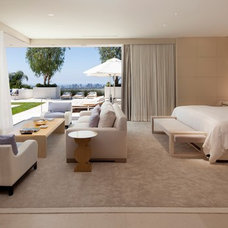 Contemporary Bedroom by Rosemarie Allaire Lighting Design