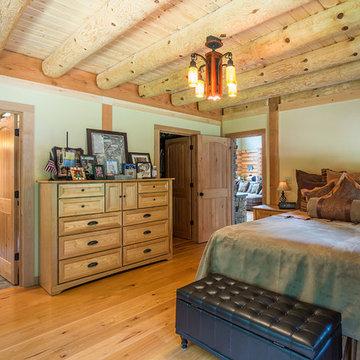 Big River Lodge Rhode Island Log Home  (L11842)