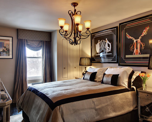 Black And Gold Bedroom Houzz