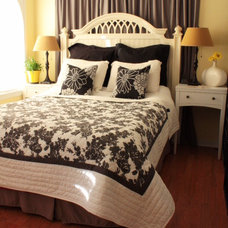 Eclectic Bedroom black and white bedroom