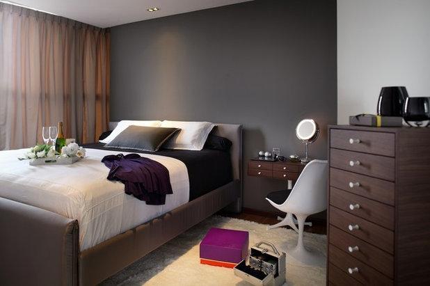 Contemporáneo Dormitorio by Black N White Haus