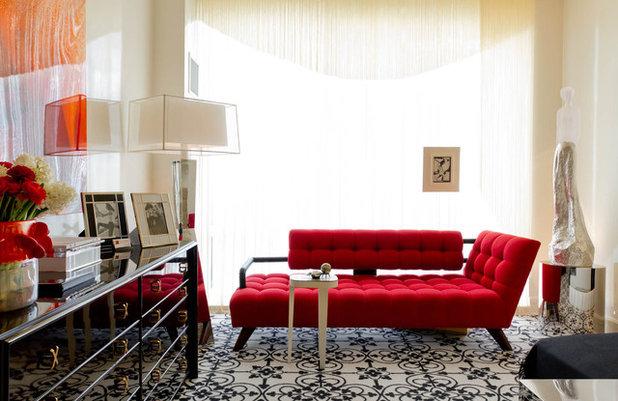 Divano Rosso Cuscini : Come abbinare un divano colorato