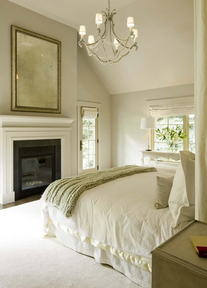 Transitional Bedroom by DHR Architecture