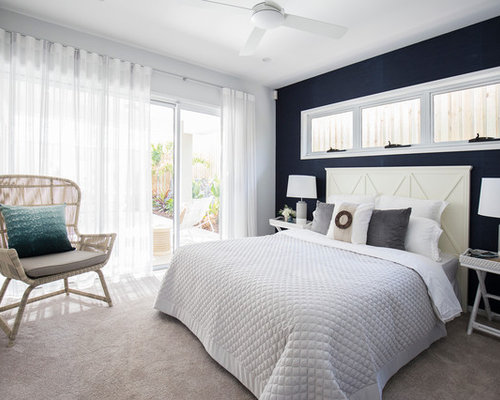 Best Mid Sized Beach Style Bedroom Design Ideas Amp Remodel