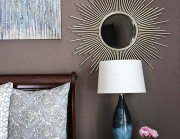 Blue & Dark Brown Bedroom