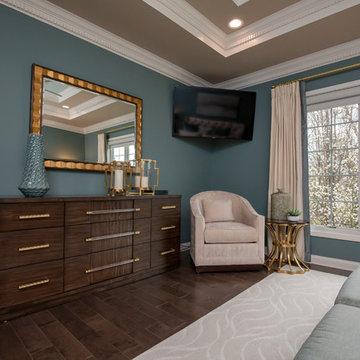 Blue & Gold Dream Bedroom