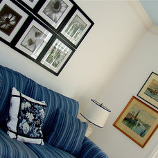 Traditional Bedroom Blue and White Spare Bedroom