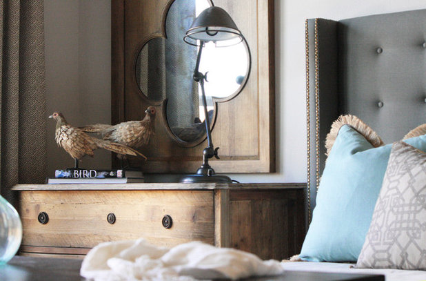 Rustic Bedroom by Cristi Holcombe Interiors, LLC