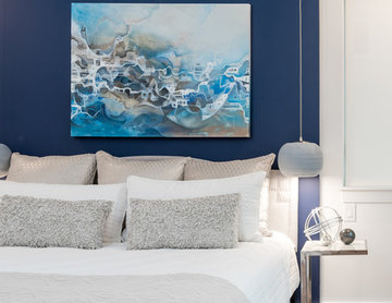 Blue Master Bedroom in Charlotte's First Solar Community