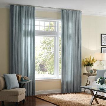 Blue Window Treatments