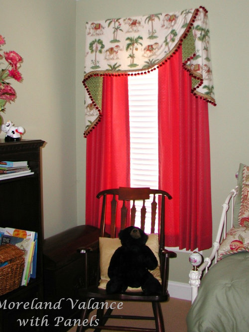 valances for bedroom. Eclectic bedroom photo in Other Board Mounted Valances  Houzz