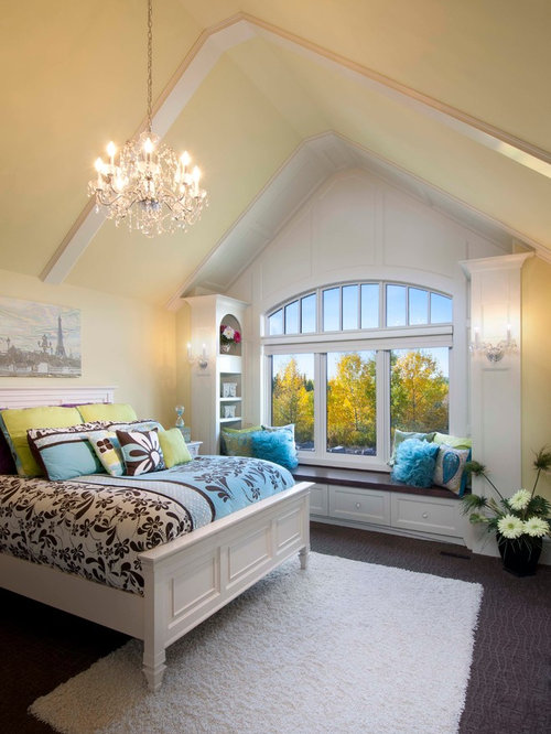 inspiration for a timeless bedroom remodel in calgary with yellow