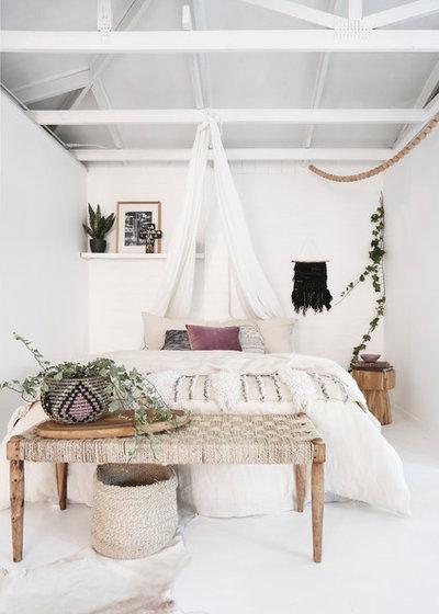 hippie style im schlafzimmer mit einem makramee wandbehang. Black Bedroom Furniture Sets. Home Design Ideas