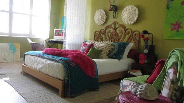 エクレクティック 寝室 Boho
