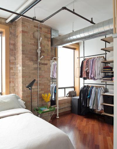 Interesting industriale camera da letto by pause designs - Letto nell armadio ...