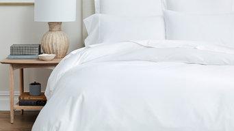 Boll & Branch White Bed