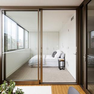Design ideas for a contemporary bedroom in Melbourne.