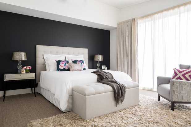 Contemporary Bedroom by Carmen Parker Styling